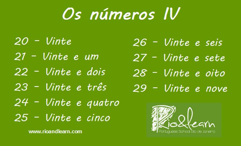 Os números IV. | Learn portuguese, Learn brazilian portuguese, Portuguese  lessons