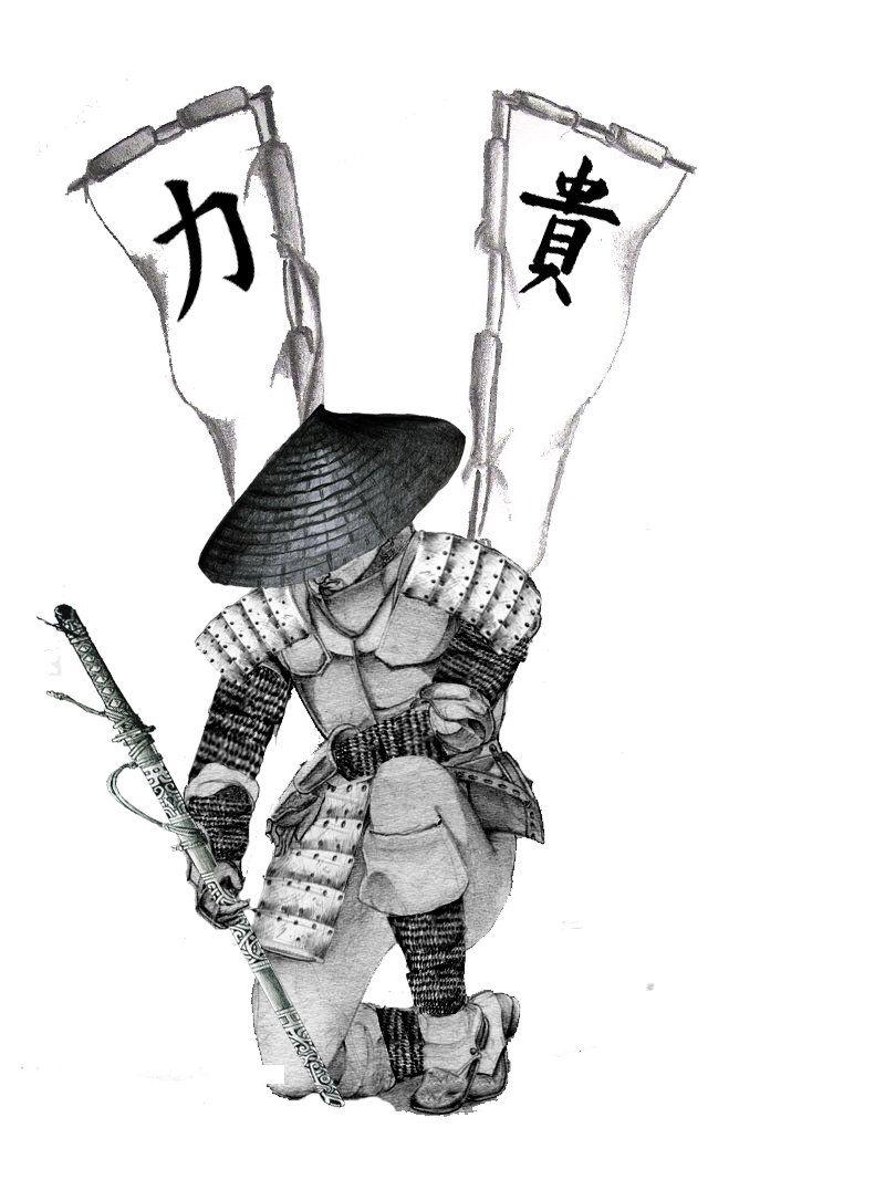 картинки для тату в виде самурая самый