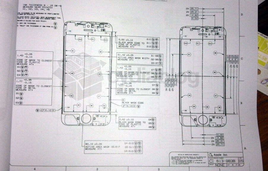 Is this an iPhone 5 blueprint? - new blueprint software ios