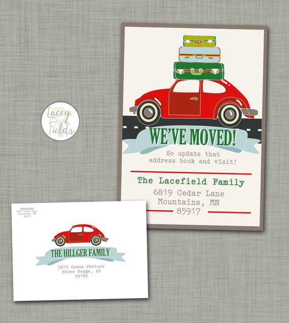 Christmas Cards  Holiday Card Set  Moving Announcement Christmas - free change of address form