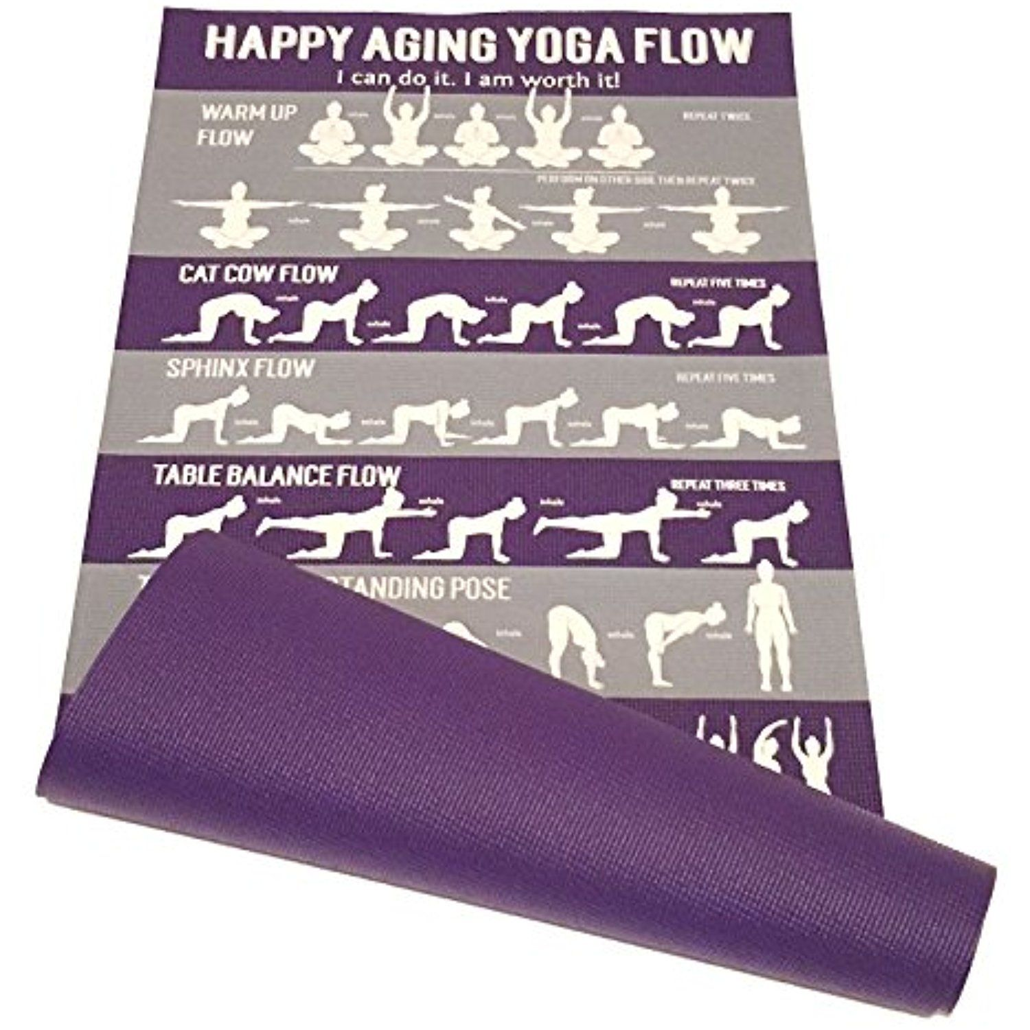 Learn Yoga Happy Aging Yoga Mat And Instructional Videos Click On The Image For Additional Details This Is An Affiliate Link Learn Yoga Happy Yoga Yoga