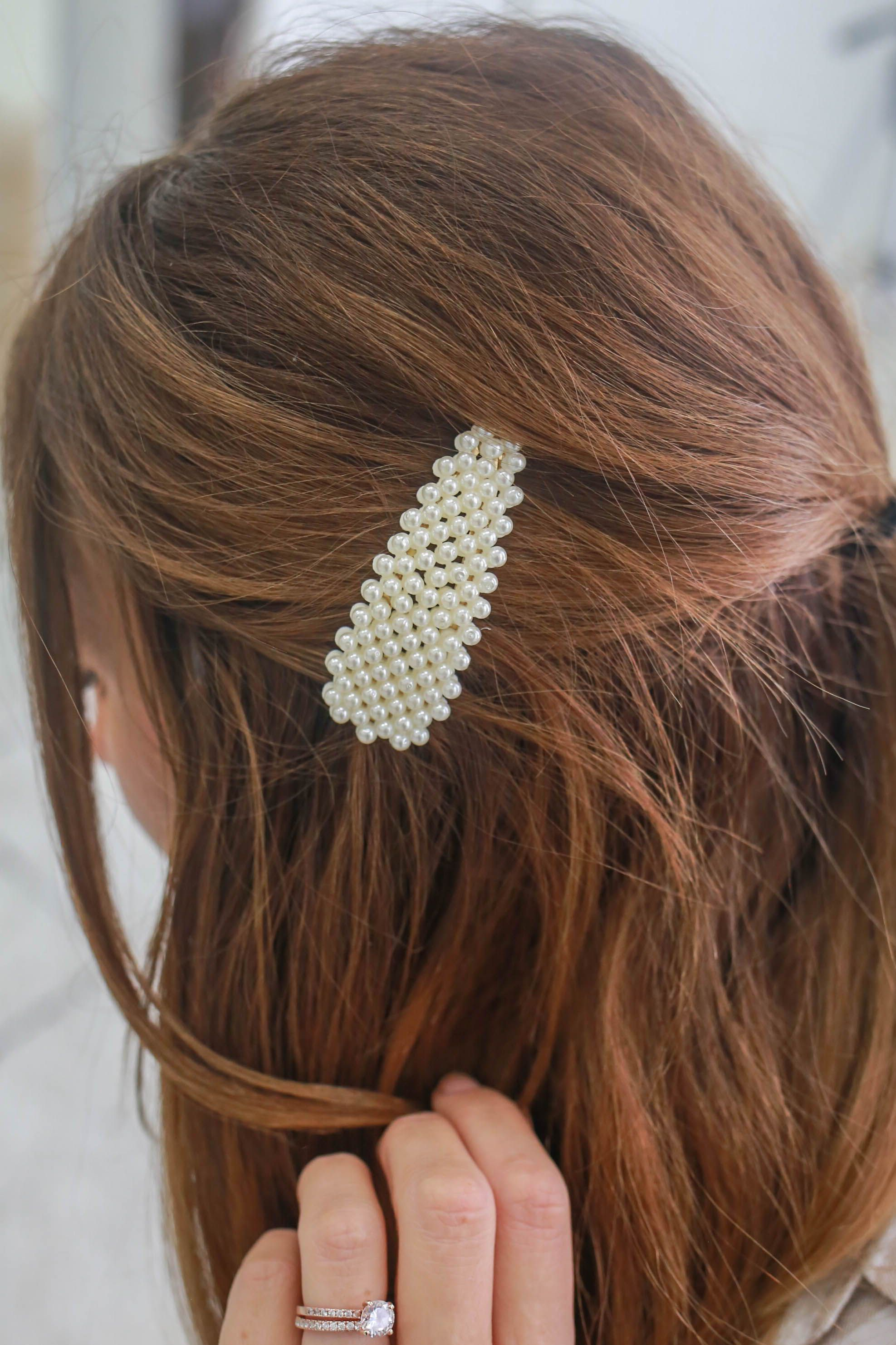 FRENCH STUDDED BARRETTE,BARRETTES SLIDES GRIPS COLOUR HAIR CLIP ACCESSORIES NEW