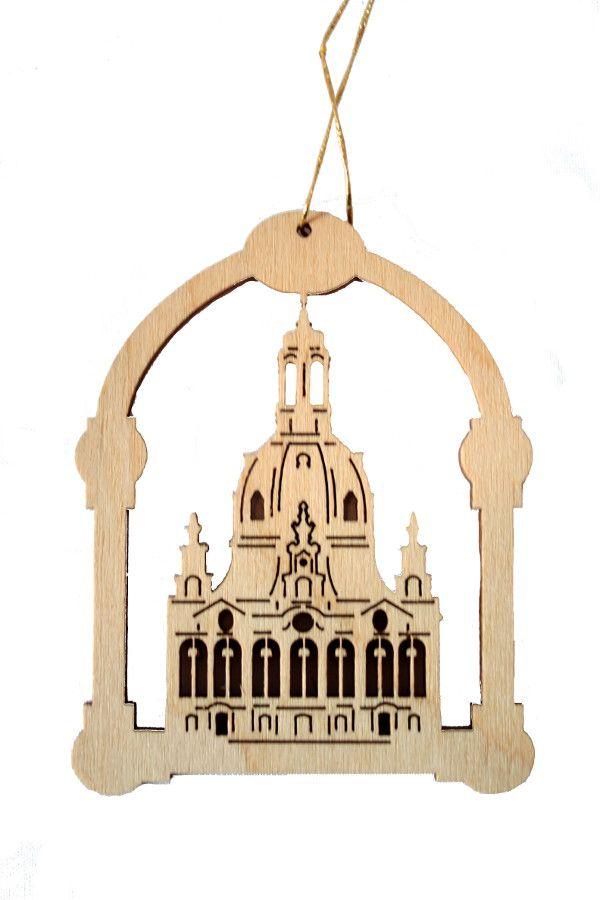 Holz-Weihnachtsaumschmuck - Frauenkirche in Bogenform online kaufen ...