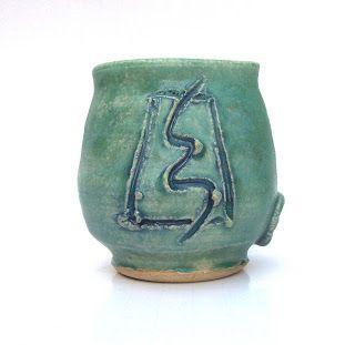 LaPella Art winding river mud vase