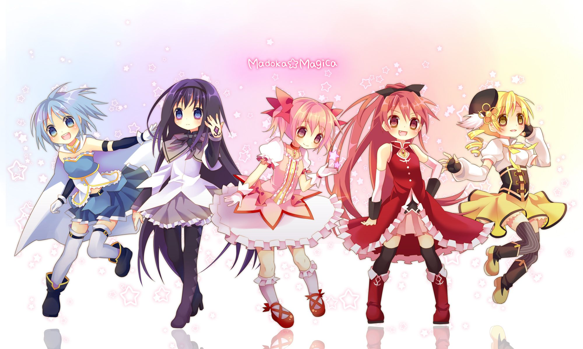 anime group of friends | ... friends forever, anime, chibi, colors, cute, friends, girls, group