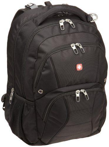 32c2cc3875 SwissGear SA1908 Black TSA Friendly ScanSmart Laptop Computer Backpack -  Fits Most 17 Inch Laptops and