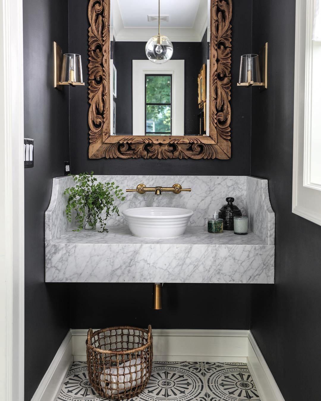 Surprising Antique Bathroom Mirror Ideas With Single Vanity