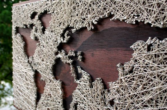 World map wall art string art map world map art map wood sign world map wall art string art map world map art map wood sign travel artwork wanderlust world map string art gumiabroncs Image collections
