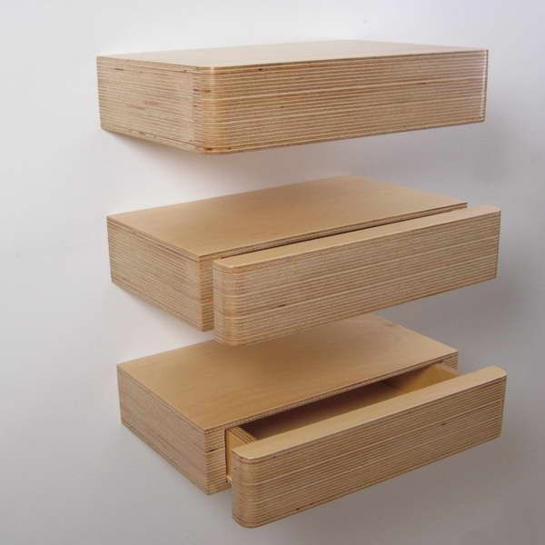 Pacco Floating Drawers can be hung vertically down the wall to ...