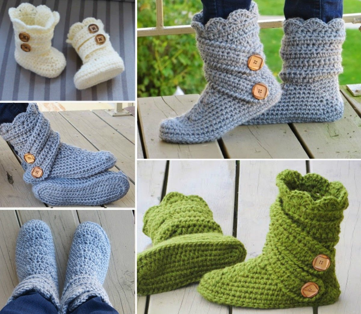 Crochet Slipper Boots Are So Stylish Check Them Out Now | Slipper ...