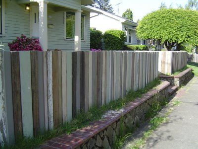 Cool fence and retaining wall