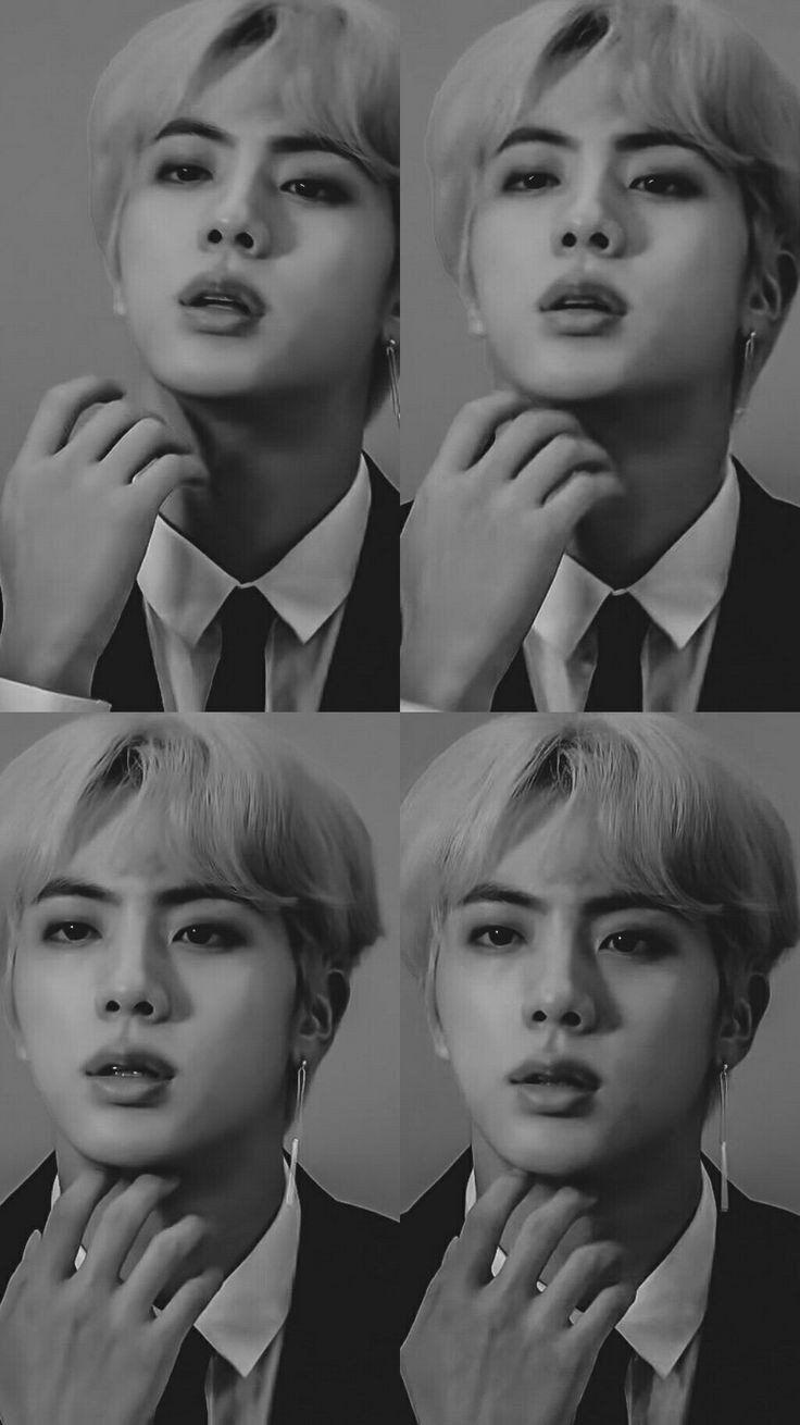 """Vanəssa🐾 on Twitter: """"💜🌸Kim Seokjin 🌸💜  Pt.2 black & white ♡… """""""