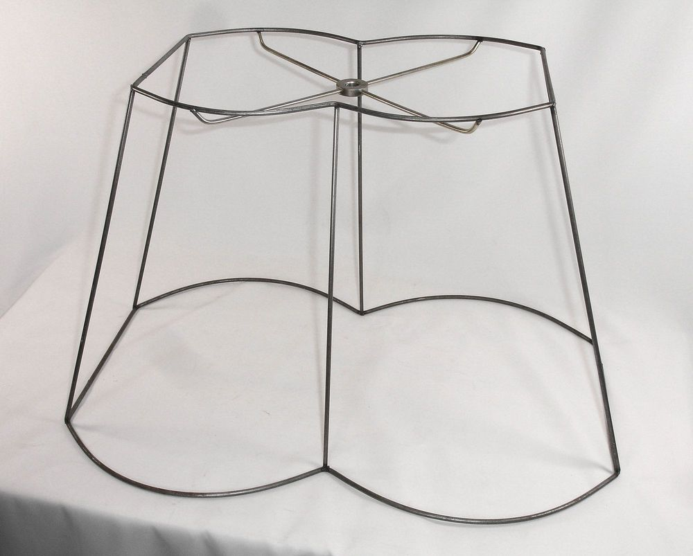 Lamp Shade Frame Custom Handmade Out Scallop Wire Rectangle Design ...