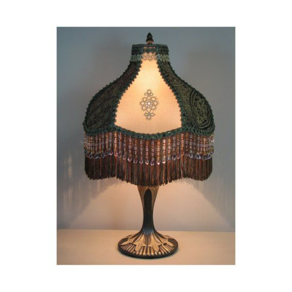 Sale Victorian Style Table Lamp With Victorian Lamp Shade Etsy Victorian Lampshades Lamp Victorian Lamps