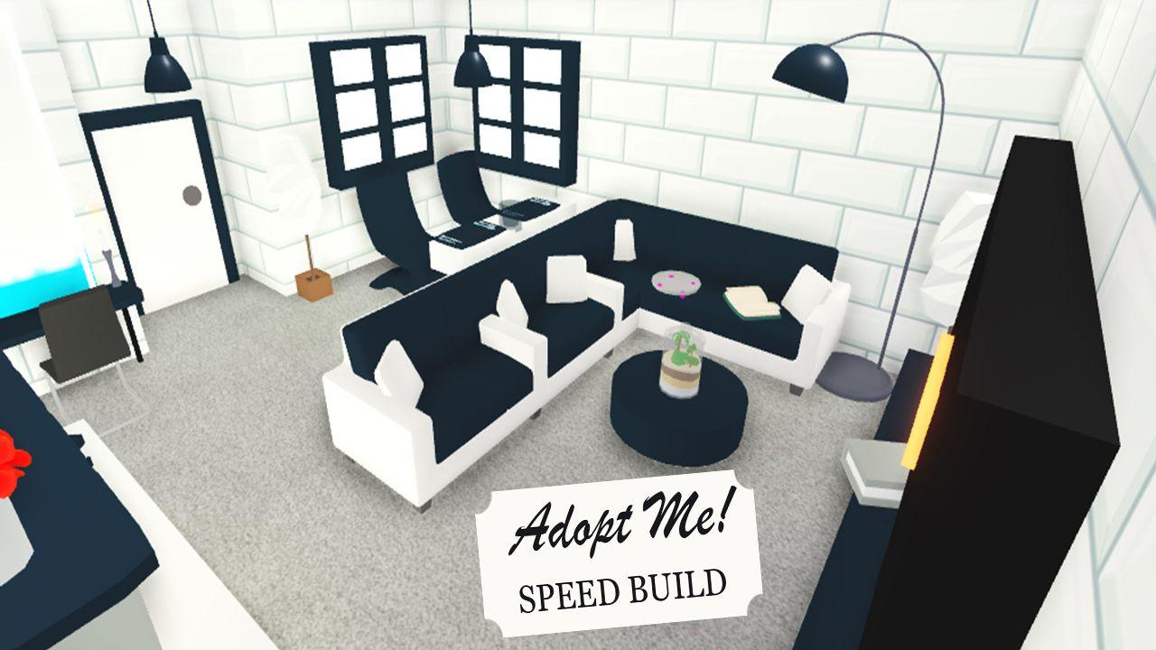 Tiny House Idea Adopt Me Speed Build Houseidea Adoptme Speedbuild Black House Roblox Adoption