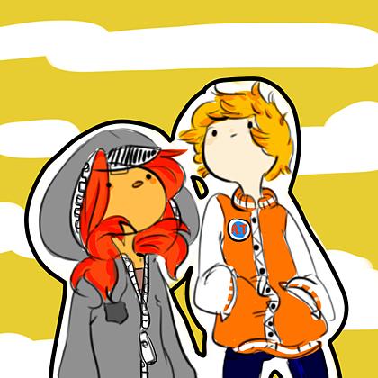 finn and flame princess by cloudyshin