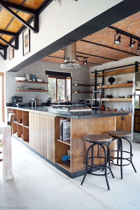 A rustic industrial kitchen makeover / Renovación de cocina estilo