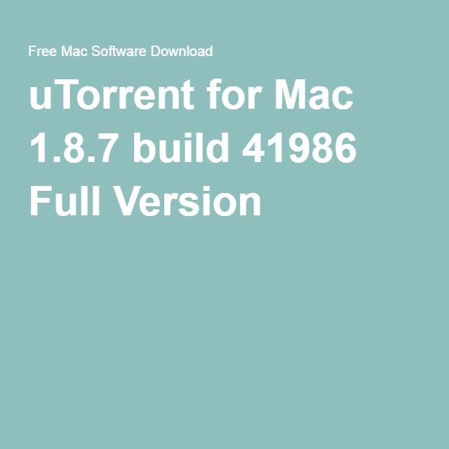 Utorrent mac settings software