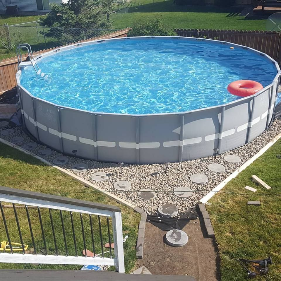 Outdoor Oasis Part 2 Intex Pool Diy Projects Pool