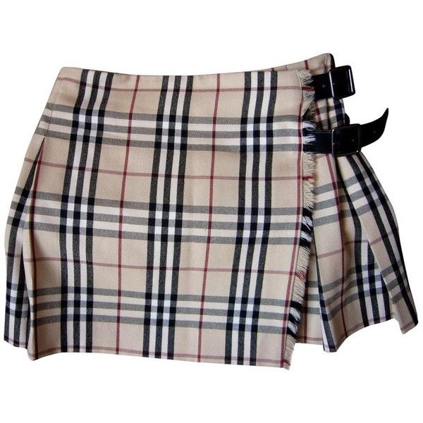 54a4e8d2eb Wool mini skirt BURBERRY ($185) ❤ liked on Polyvore featuring skirts, mini  skirts, bottoms, burberry skirt, burberry, short mini skirts and wool skirt