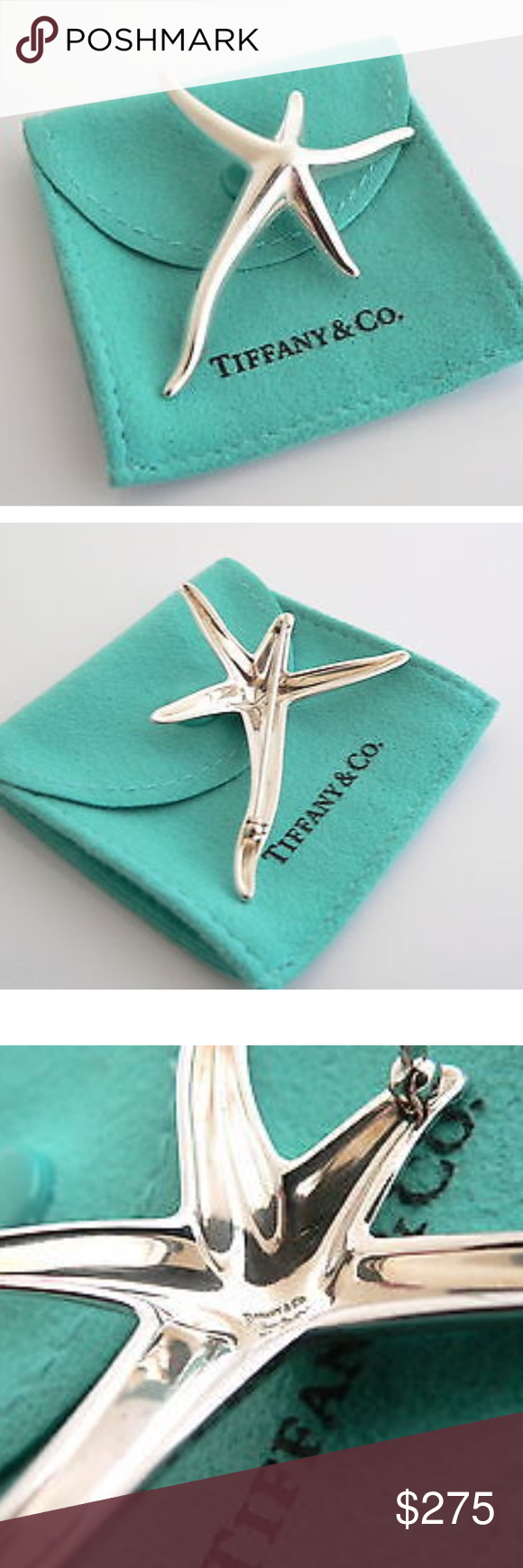 f8f1baf72 Tiffany & Co Elsa Peretti Starfish Brooch Tiffany and Co. Sterling Silver  Large Peretti Starfish Pin. Excellent condition. Size & Measurements: The  pin is ...