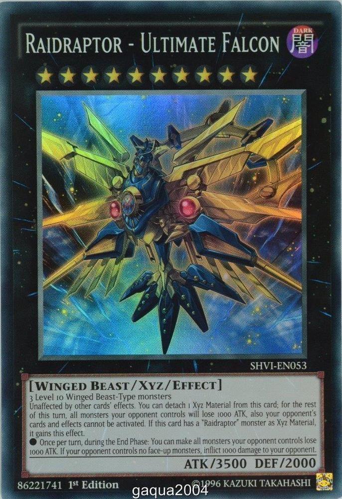 Blade Burner Falcon drl3-en005 1st Ed MINT-NM Raidraptor Ultra Yu-Gi-Oh!