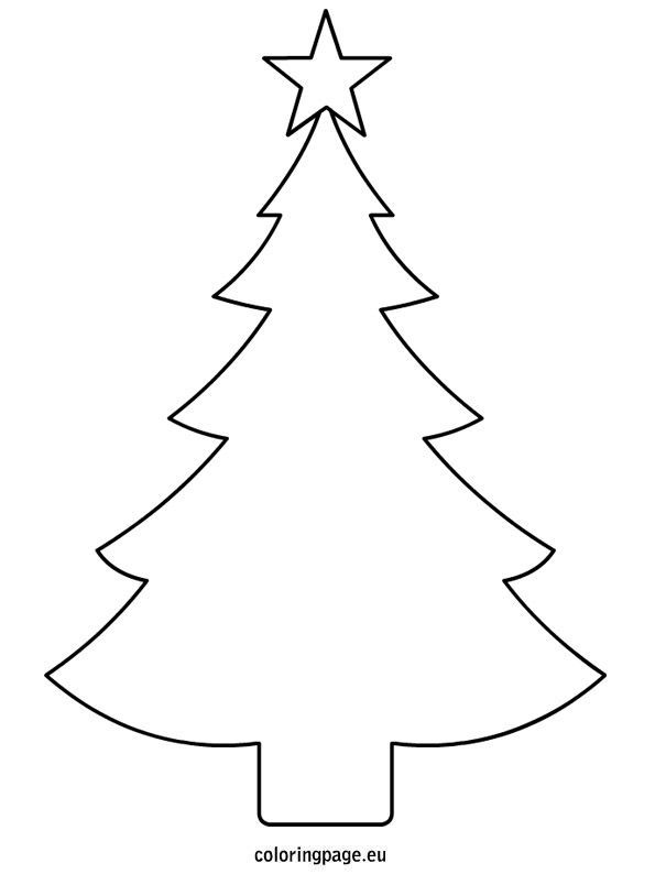 Crazy image in christmas tree outline printable