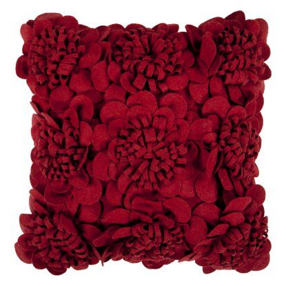 Surya Mums Decorative Pillow Maroon Decorative Pillows At Delectable Maroon Decorative Pillows