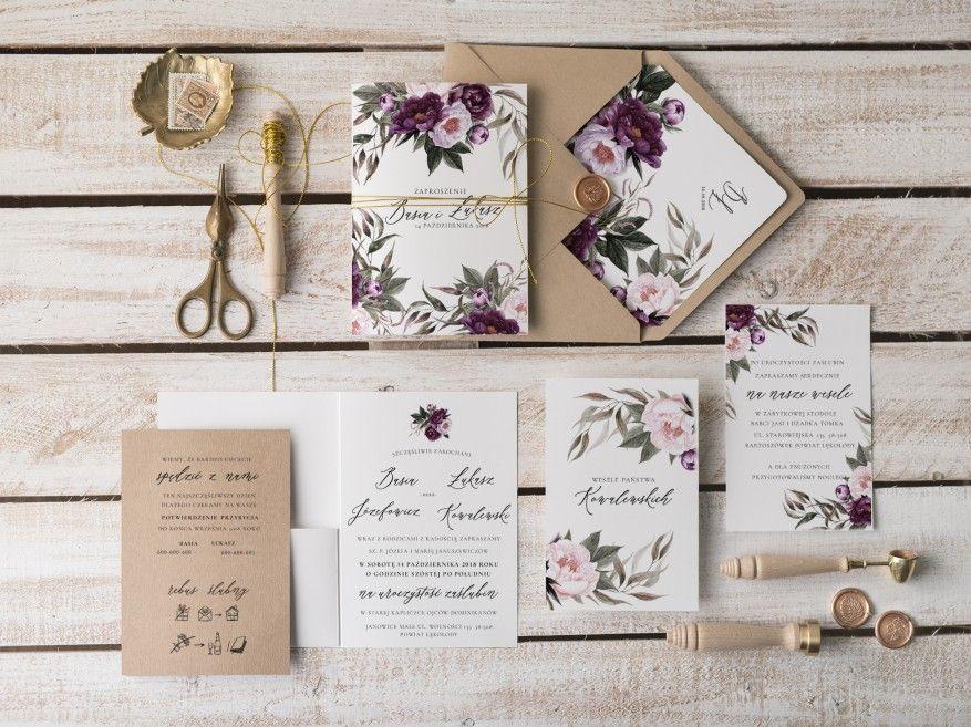 Zaproszenia ślubne Botaniczne 11vbotfz Decorispl Wedding
