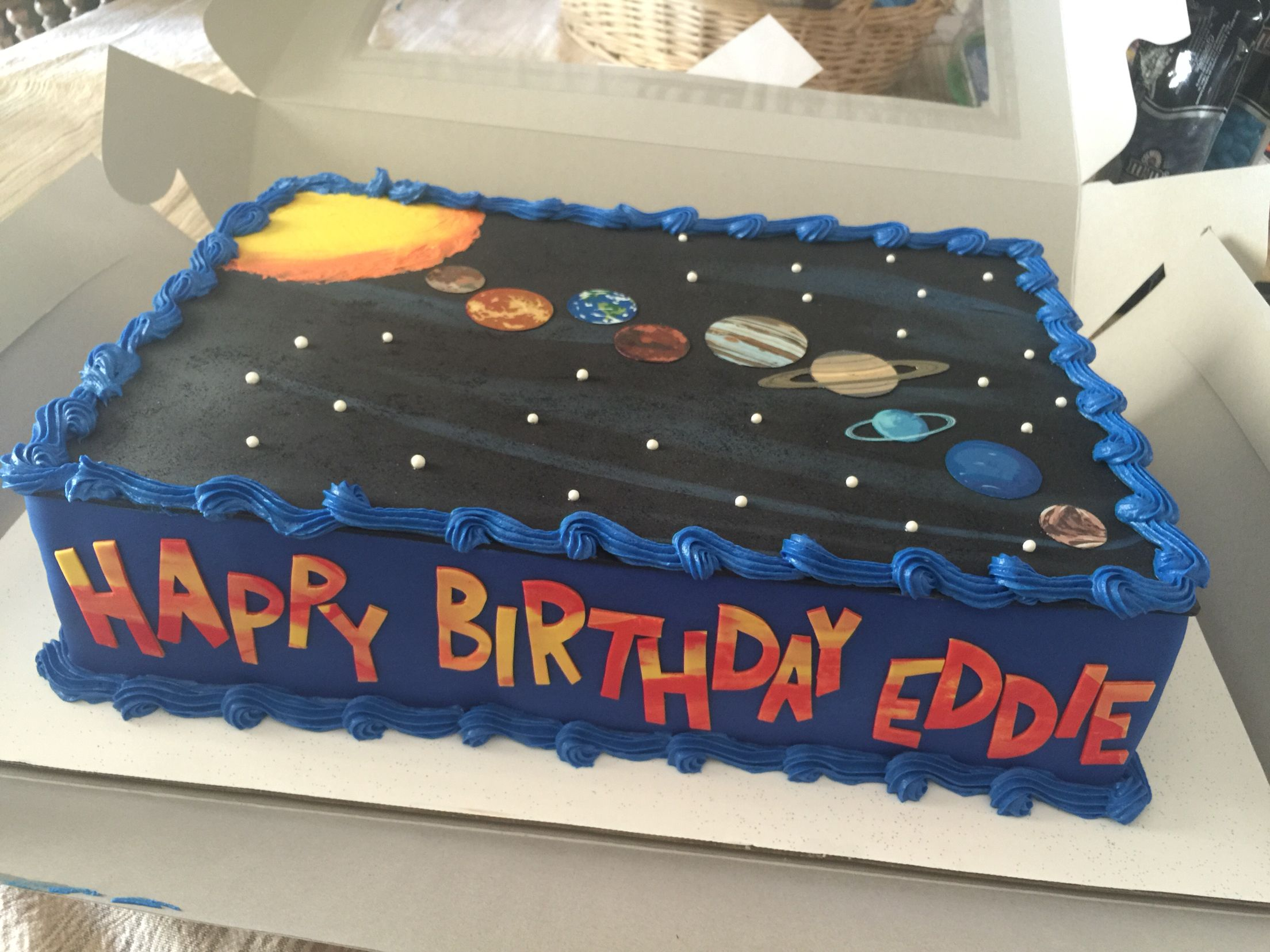 Solar System Planet Cake With Images Planet Cake Space