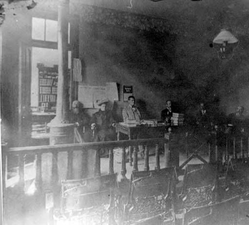 Douglas County Courthouse court room between 1890 and 1920 ::Douglas County History  Photograph Collection