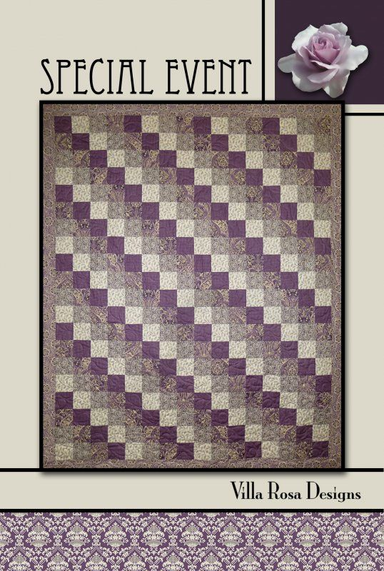 Special Event quilt pattern by Pat Fryer, Villa Rosa Designs