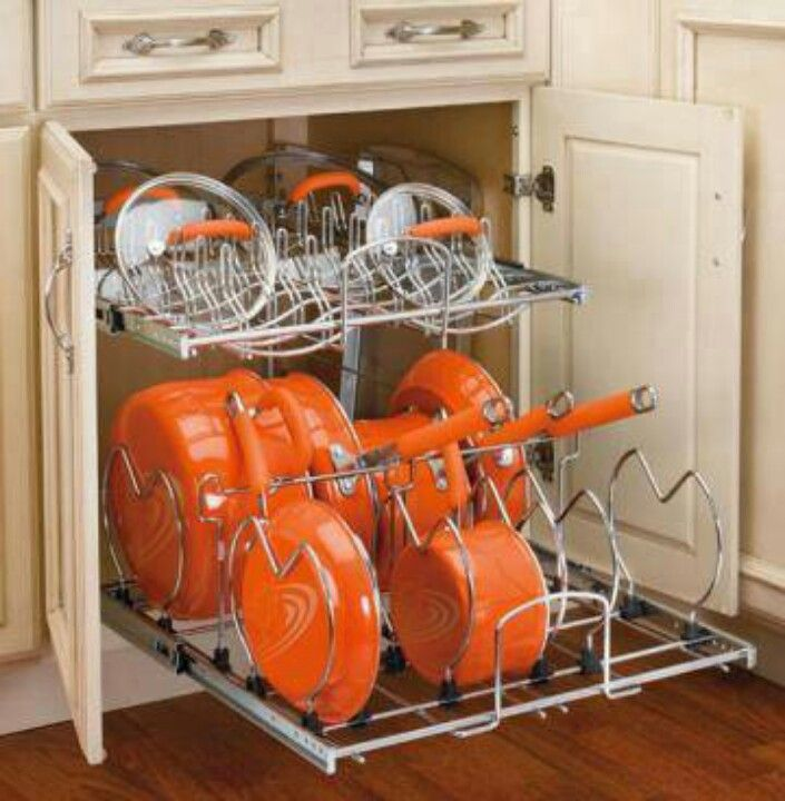 Kitchen Storage Ideas For Pots And Pans Part - 19: Find All Of Your Pots And Pans Easily When This Is Installed In Your Kitchen  Cabinet.