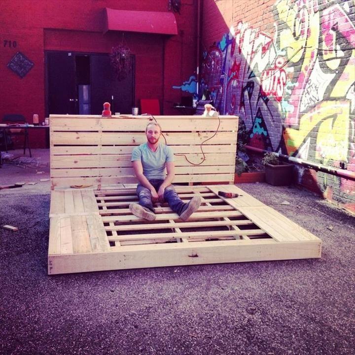 80 DIY king size platform bed frame Pallet bed frame