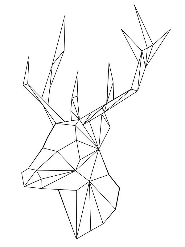 Geometric Deer By OneAlice