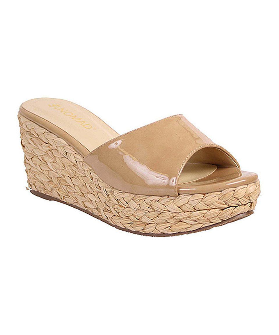 Love this Nomad Footwear Nude Patent Havana Platform Slide by Nomad  Footwear on #zulily!