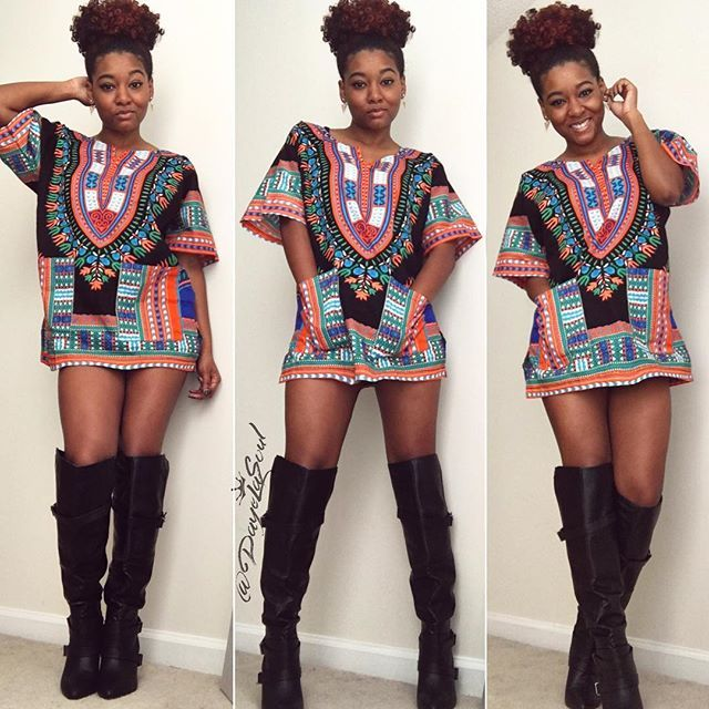 Black Girl Fashion Instagram: High Puff + Dashiki Black Girl Magic @dayelasoul On