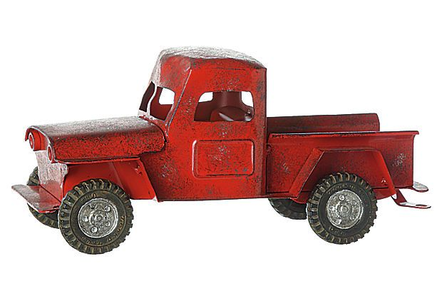 Metal Truck, Red. This is nice, but I think I'd rather have a battered antique