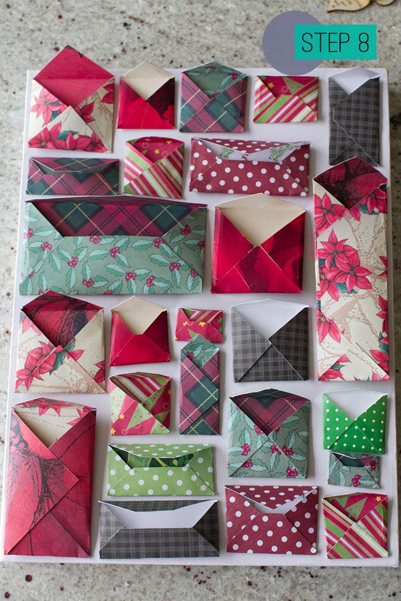 Diy How To Make A Christmas Advent Calendar With Envelopes 8