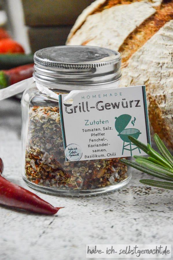DIY Grillpaket mit Grillbrot, Grillgewürz und Ketchup