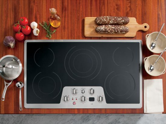 Click Image Above To Ge Cafe 36 Built In Cleandesign Electric Cooktop