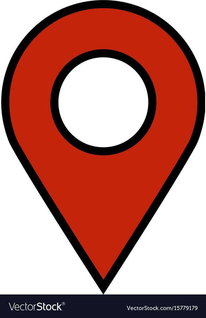 Geo location pin icon vector image on