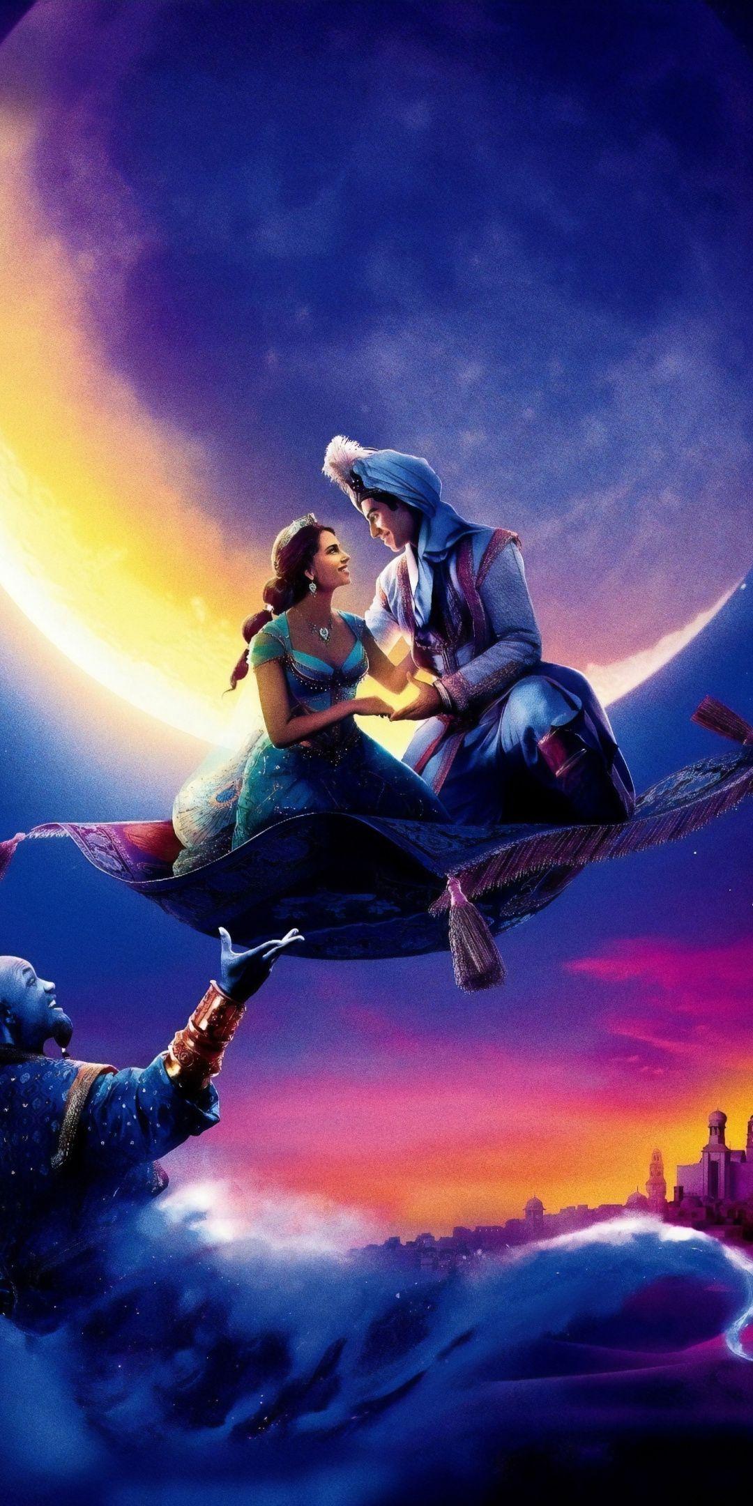 19 Movie Aladdin And Jasmin Flight Wallpaper Com Imagens Wallpapers De Filmes Papel De Parede Disney Filme Aladdin
