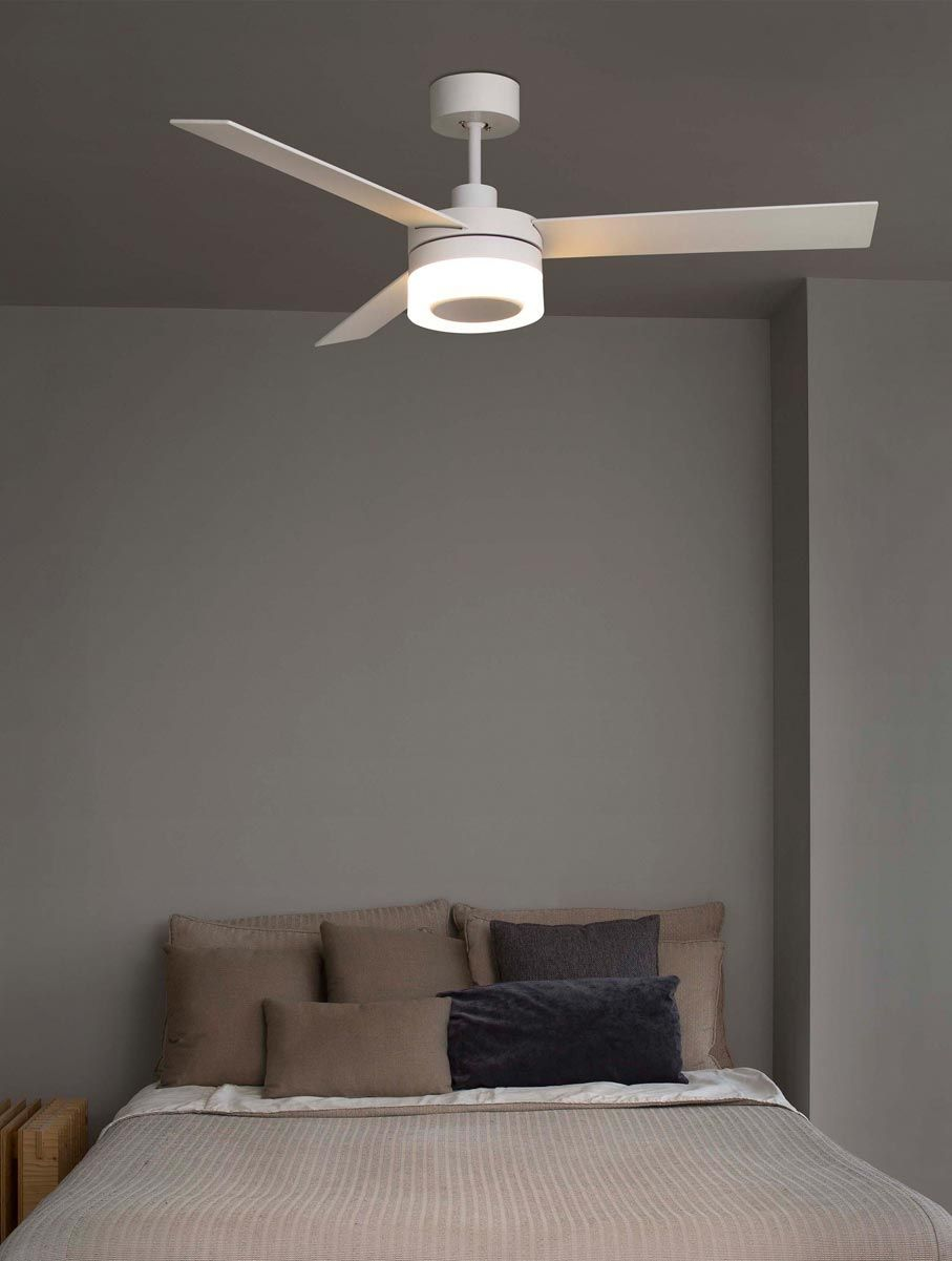 Ventilador de techo blanco ice led ventiladores de techo con luz en la casa de la l mpara - Lampara de techo con ventilador ...
