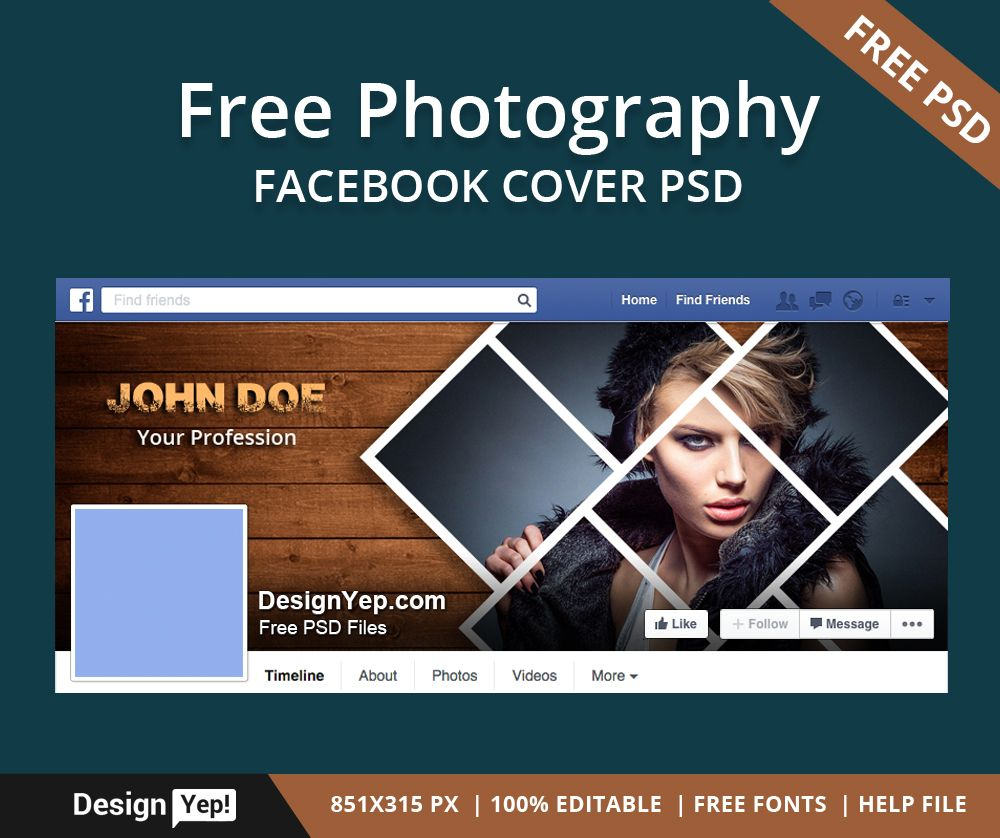 Free Photography Facebook Timeline Cover Psd Template Free