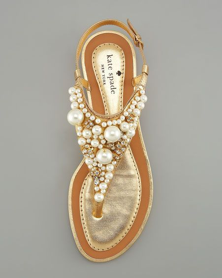 0b9f3f49bb1 kate spade pearl beach sandals shoes flats