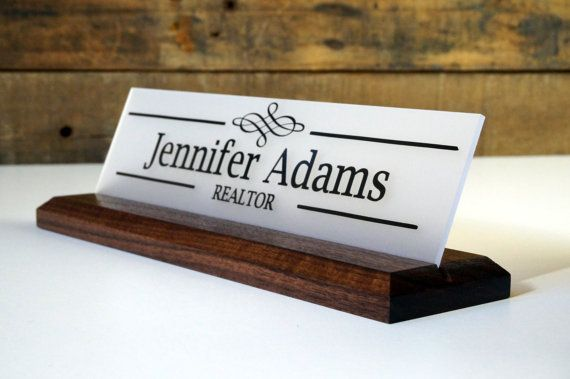 Graduation Gift New Job Gift Wood Desk Nameplate 10 X 2 5 Etsy Personalized Desk Name Plate Desk Name Plates Desk Sign