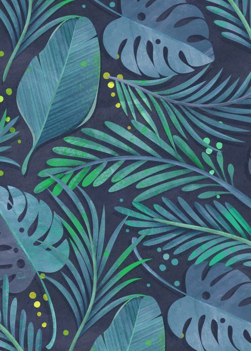 Rain Forest On Behance Ilustraciones Florales Iphone
