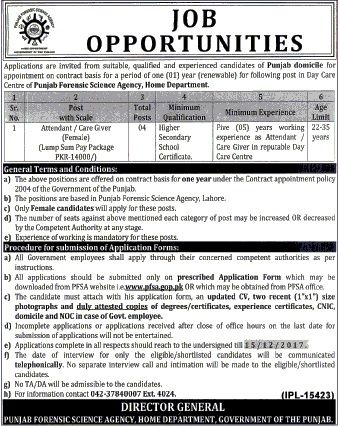 Punjab Forensic Science Agency PFSA Jobs 2017 In Lahore For - radiologist job description