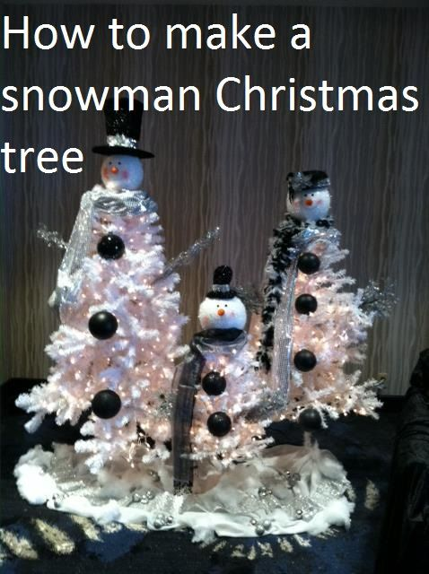 How to Make a Snowman Christmas Tree | Enchanted florist, Florists ...